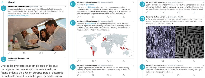 Twitter Thread Instituto Nanosistemas UNSAM