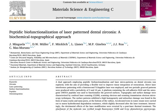 Peptidic biofunctionalization of laser patterned dental zirconia- A biochemical-topographical approach.jpg